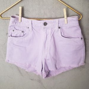 Used Sz 26 LF Carmar High-waisted Purple Shorts
